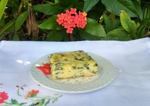 TORTA DE RICOTA COM ESPINAFRE